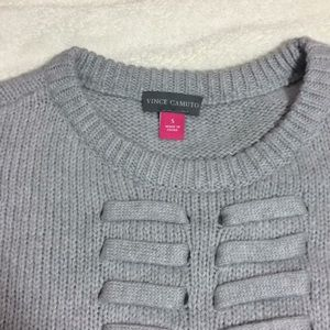 Vince Camuto cotton blend gray sweater Sz S